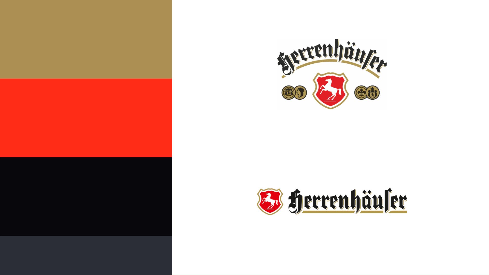 Herrenhäuser Brauerei Logos und Farben