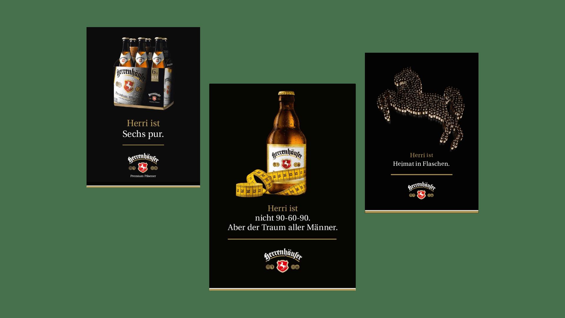 Herrenhäuser Brauerei Kampagnen Motive